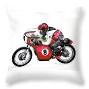 1960s Ducati Desmo Throw Pillow