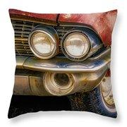1961 Cadillac Headlight Throw Pillow