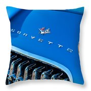 1961 Chevrolet Corvette Zob Grille Throw Pillow