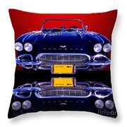 1961 Chevy Corvette Throw Pillow