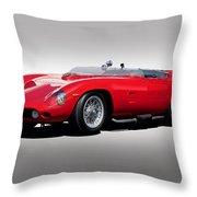 1961 Ferrari Tr61 Rossa Corso Throw Pillow