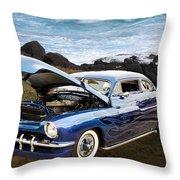 1951 Mercury Classic Car Photograph 005.02 Throw Pillow