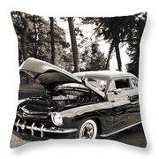1951 Mercury Classic Car Photograph 006.01 Throw Pillow