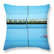 1961 Pontiac Bonneville Emblem Throw Pillow