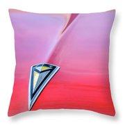 1961 Pontiac Catalina Hood Emblem Throw Pillow