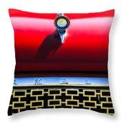 1961 Rambler Hood Ornament Throw Pillow