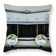 1961 Volvo Pv544 Grille Emblem -1511c Throw Pillow