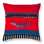 1962 Austin Healey 3000 Mk II Hood Emblem -0324c Throw Pillow