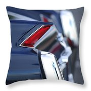 1962 Cadillac Deville Taillights Throw Pillow