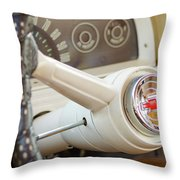 1962 Chevy Stering Wheel Throw Pillow