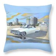 1962 Classic Cadillac Throw Pillow
