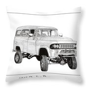 1962 Dodge Powerwagon Throw Pillow