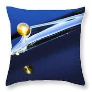 1962 Ford Galaxie Hood Ornament Throw Pillow