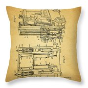 1962 Forklift Patent Throw Pillow