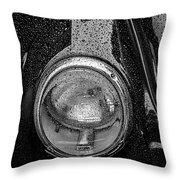 1962 Vw Beetle In The Rain Throw Pillow
