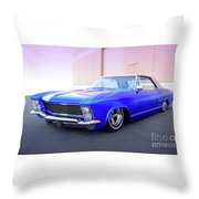 1963 Buick Riviera Throw Pillow
