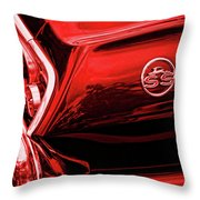 1963 Chevrolet Impala Ss Red Throw Pillow