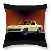1963 Corvette 2nd Generation Throw Pillow