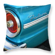 1963 Ford Falcon Tail Light And Logo Throw Pillow