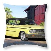 1963 Ford Galaxie 500 Xl Convertible Throw Pillow