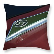 1963 Ford Galaxie Hood Ornament Throw Pillow