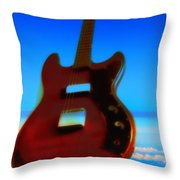 1963 Guild Jet Star Throw Pillow by Bill Cannon