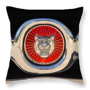 1963 Jaguar Xke Roadster Emblem Throw Pillow