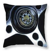 1963 Jaguar Xke Roadster Steering Wheel Throw Pillow