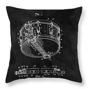 1963 Snare Drum Patent Throw Pillow