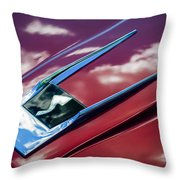 1963 Studebaker Avanti Hood Ornament 4 Throw Pillow