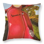 1963 Vespa 50 Throw Pillow