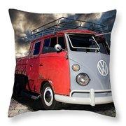 1963 Volkswagen Double Cab Truck Throw Pillow