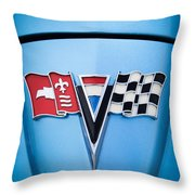 1964 Chevrolet Corvette Sting Ray Gm Styling Coupe Hood Emblem -0126c45 Throw Pillow