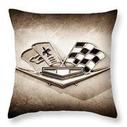 1964 Chevrolet Corvette Sting Ray Gm Styling Coupe Side Emblem -0153s Throw Pillow