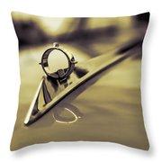 1964 Ford Galaxie 500 Xl Hood Ornament - Sepia Throw Pillow