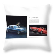 1964 Ford Mustang-08-09 Throw Pillow