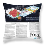 1964 Ford Mustang-12 Throw Pillow