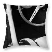 1964 Morgan 44 Black And White Throw Pillow