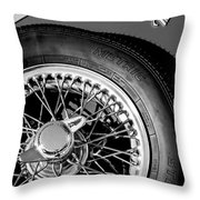 1964 Morgan 44 Spare Tire Black And White Throw Pillow