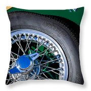 1964 Morgan 44 Spare Tire Throw Pillow
