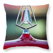 1964 Plymouth Hood Ornament Throw Pillow