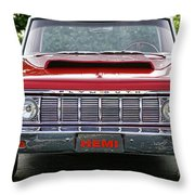 1964 Plymouth Savoy Hemi  Throw Pillow
