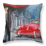 1964 Porsche 356 Coupe Throw Pillow