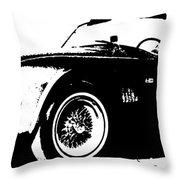 1964 Shelby Cobra Sketch Throw Pillow