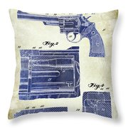 1964 Smith And Wesson Gun Patent Two Tone Throw Pillow