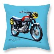 1964 Steve Mcqueen Isdt Throw Pillow