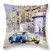 1964 Targa Florio Ferrari 250 Gto Throw Pillow