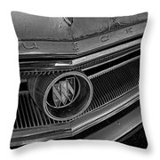 1965 Buick Hood Ornament B And W Throw Pillow