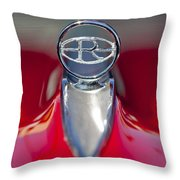 1965 Buick Riviera Hood Ornament Throw Pillow