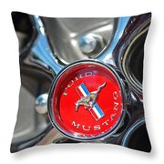 1965 Classic Ford Mustang Rim Color Throw Pillow